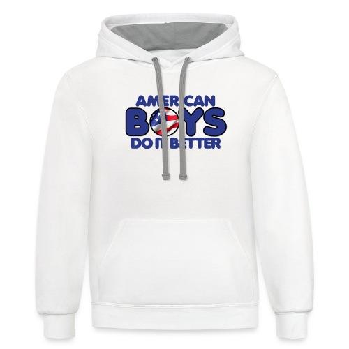 2020 Boys Do It Better 03 American - Unisex Contrast Hoodie