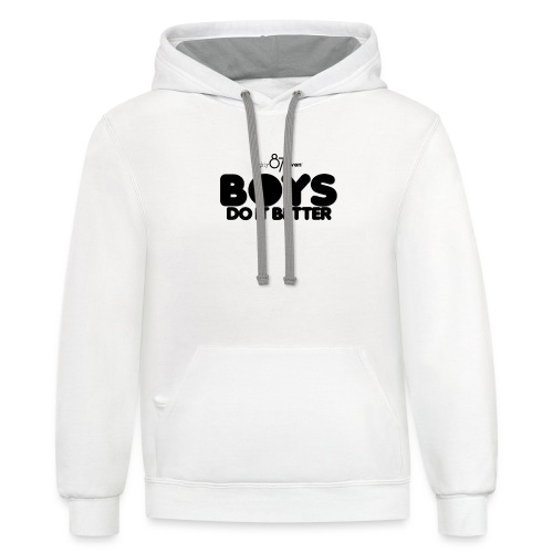 2020 Boys Do It Better 01 Plain 87 - Contrast Hoodie