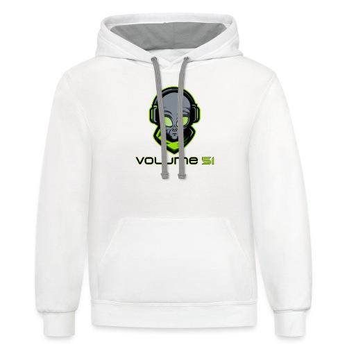 Volume 51 Text Logo - Contrast Hoodie