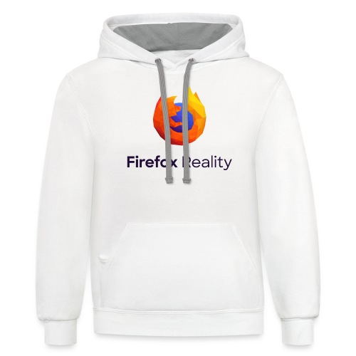 Firefox Reality - Transparent, Vertical, Dark Text - Contrast Hoodie