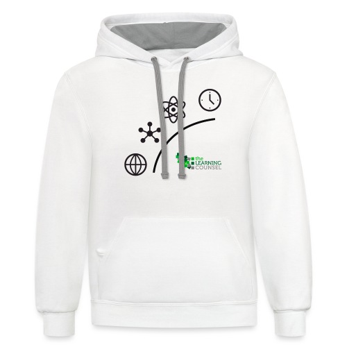 Matter Energy Space Time (Black) - Unisex Contrast Hoodie