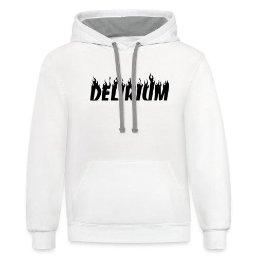 Delirium Fire Logo - Contrast Hoodie