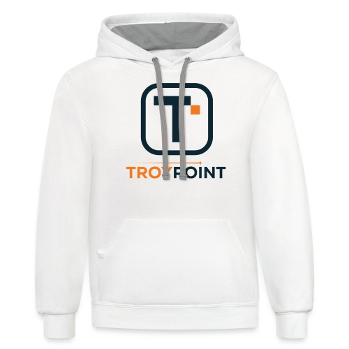 TROYPOINT Navy Logo - Contrast Hoodie