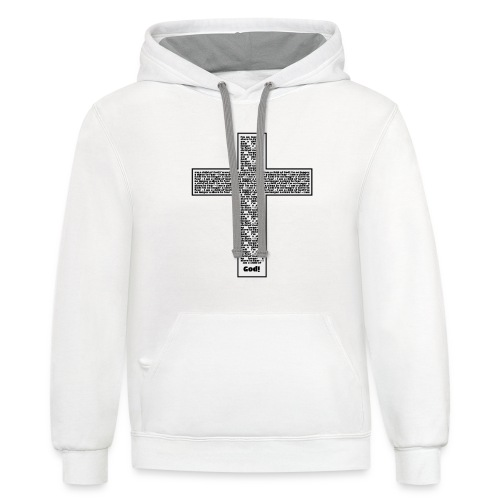 Jesus cross. I'm no longer a slave to fear. - Unisex Contrast Hoodie