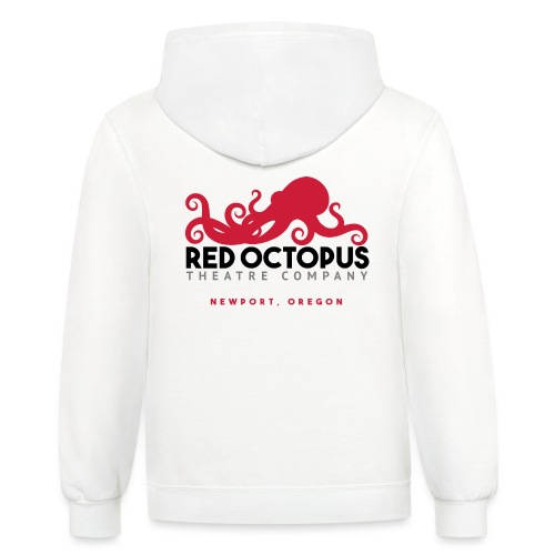 Red Octopus Faster, Funnier, Louder - Unisex Contrast Hoodie