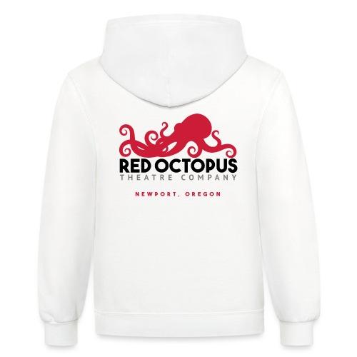 Red Octopus Faster, Funnier, Louder - Unisex Contrast Hoodie
