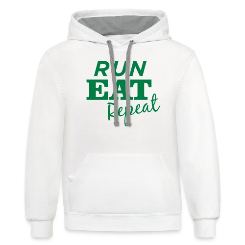 Run Eat Repeat buttons medium - Contrast Hoodie