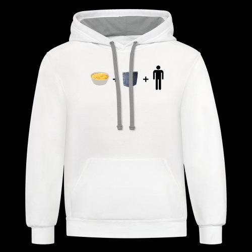 Macaroni Pocket Man Shirt - Unisex Contrast Hoodie
