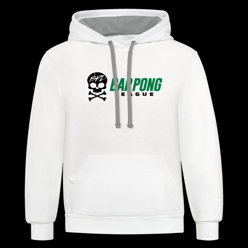 Bar Pong League Wide Logo - Contrast Hoodie