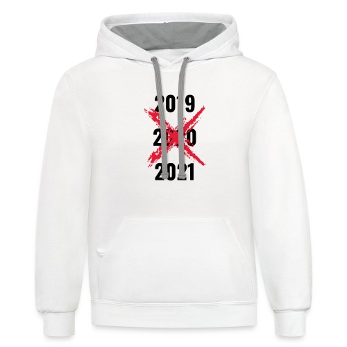 No 2020 - Unisex Contrast Hoodie