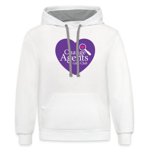 Change Agents Girls Club - Unisex Contrast Hoodie