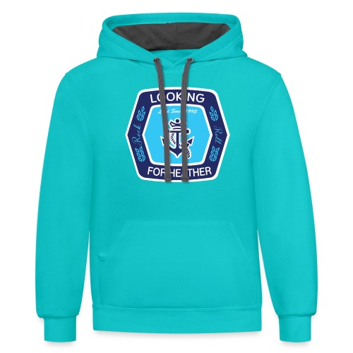 Looking For Heather Stock Logo - Contrast Hoodie