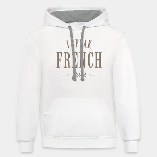 french fries - Contrast Hoodie