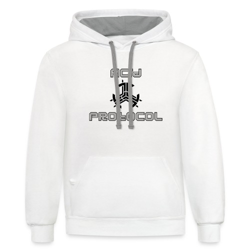 ACID PROTOCOL OFFICIAL LOGO BLACK - Contrast Hoodie