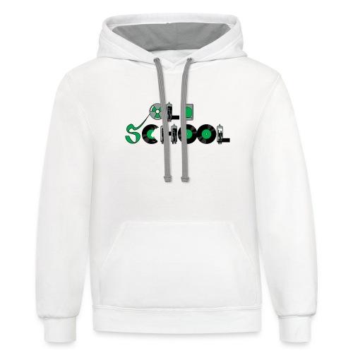 Old School Music - Contrast Hoodie