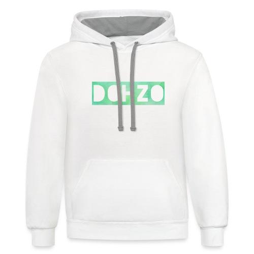 DOHZO - Contrast Hoodie