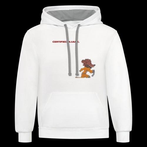 Free Bandicoot (Certified N.Sane). - Unisex Contrast Hoodie