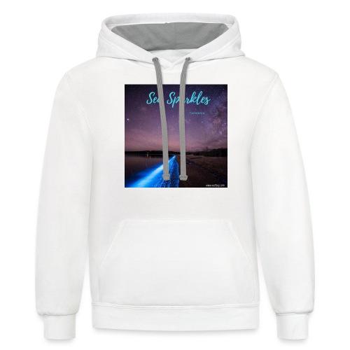 Tasmanian Sea Sparkles - Unisex Contrast Hoodie