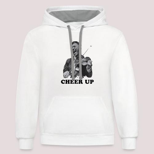 Cheer Up - Unisex Contrast Hoodie