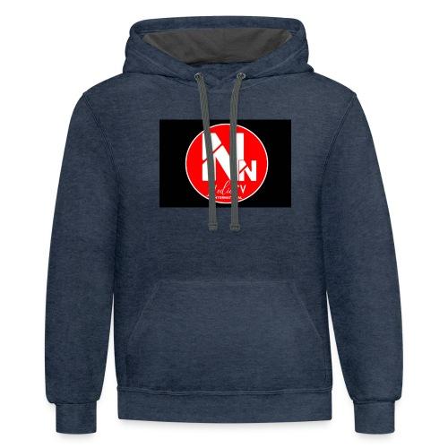 logo NN MEDIA TV - Unisex Contrast Hoodie