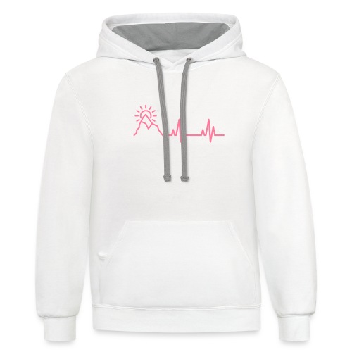The Heartbeat of a Wanderer - Contrast Hoodie