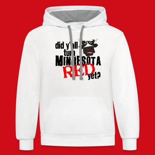 Turn Minnesota Red - Unisex Contrast Hoodie