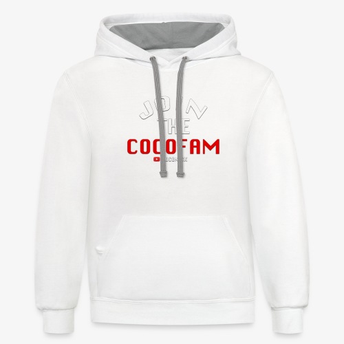 Join The CocoFam - Unisex Contrast Hoodie