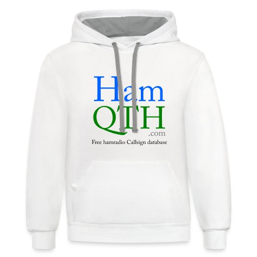 HamQTH - Unisex Contrast Hoodie