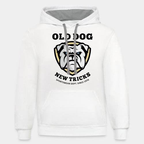 old dog new tricks - Contrast Hoodie