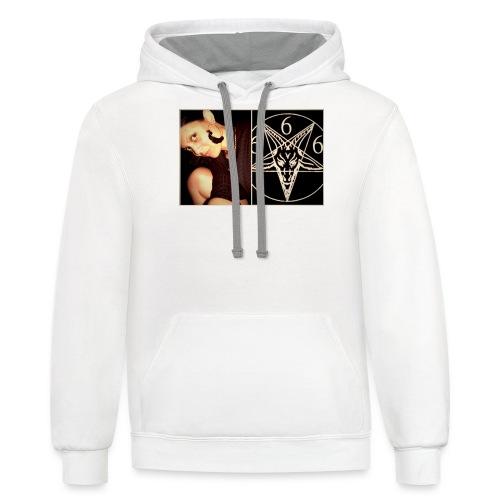 satanic style - Contrast Hoodie