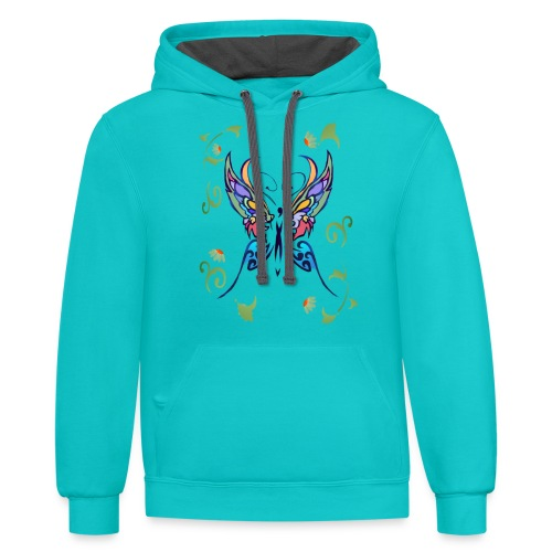 Bright Butterfly - Contrast Hoodie