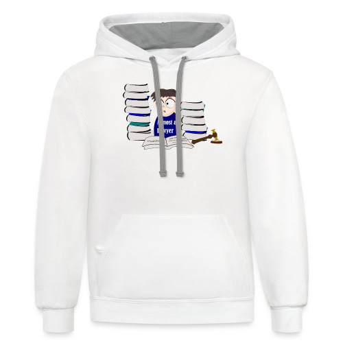 Almost a Lawyer Male Asian - Contrast Hoodie