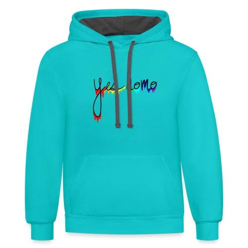Yes Homo Rainbow Drip - Contrast Hoodie