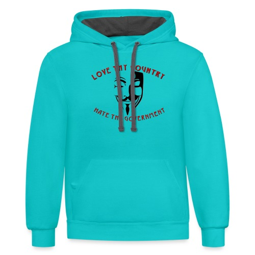 love thy country - Contrast Hoodie