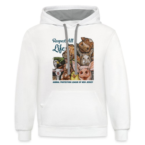 Respect All Life - Unisex Contrast Hoodie