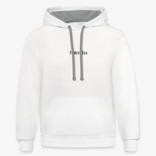 Homeless Pronunciation - White - Unisex Contrast Hoodie