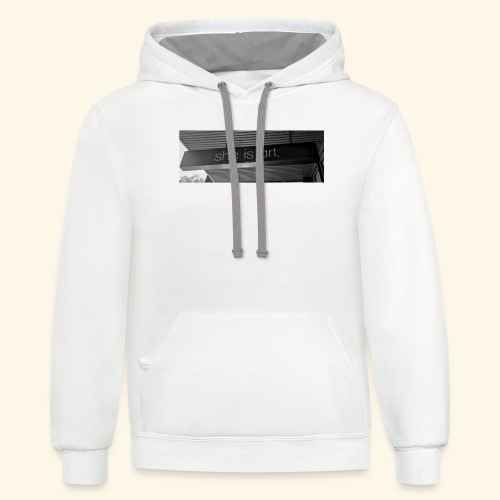 She is art. - Contrast Hoodie