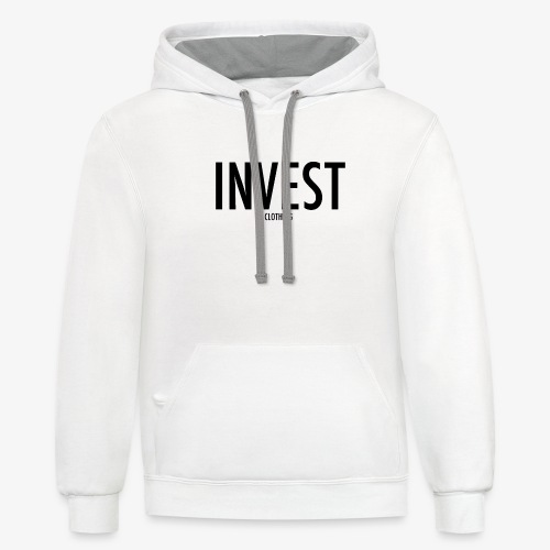 invest clothing black text - Contrast Hoodie