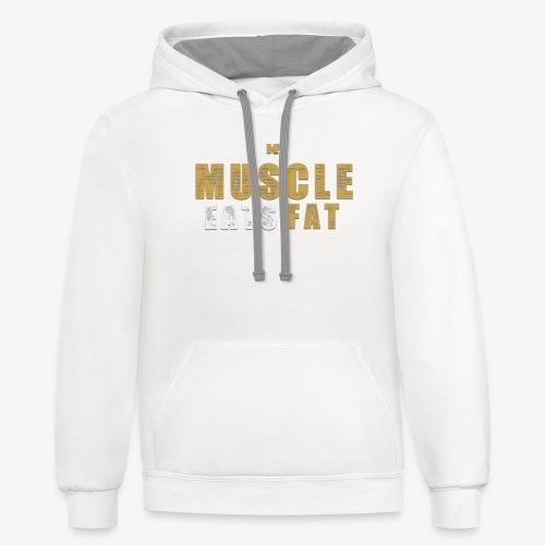 Muscle Eats Fat Tank Top (Saints Gold) - Unisex Contrast Hoodie