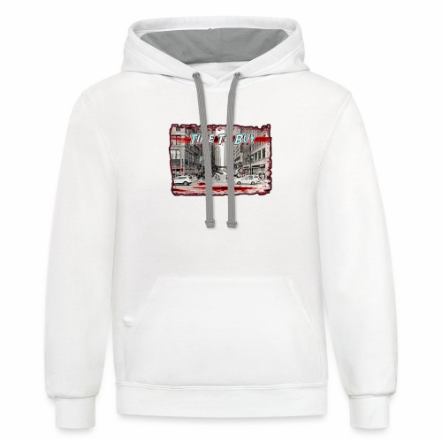 Blood in The Streets T-shirt - Unisex Contrast Hoodie
