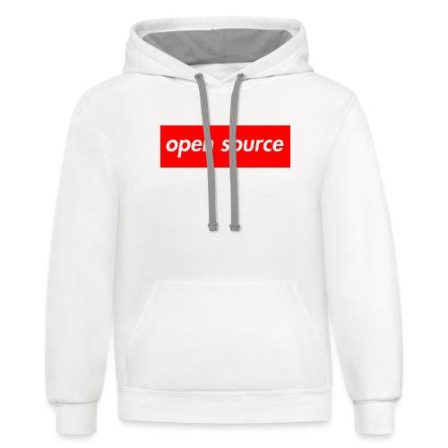 open source very original - Contrast Hoodie