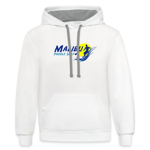 Malibu Paddle Surf T-shirts Hats Hoodies - Contrast Hoodie