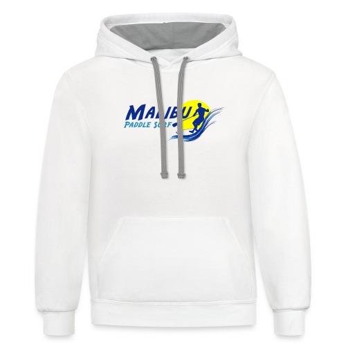 Malibu Paddle Surf T-shirts Hats Hoodies - Unisex Contrast Hoodie
