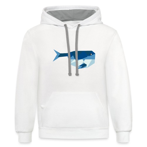 Sus the Whale - Unisex Contrast Hoodie
