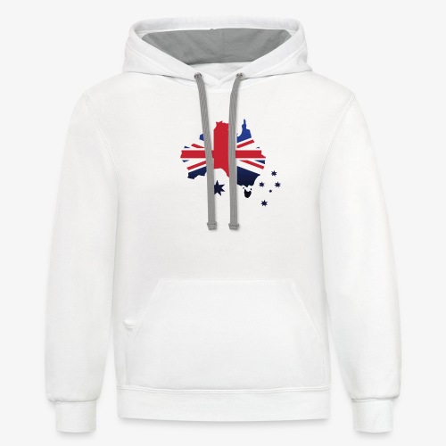 Awesome Aussie - Unisex Contrast Hoodie