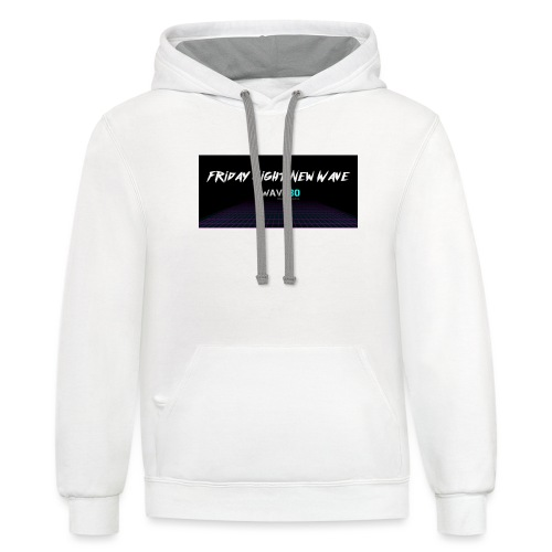 Friday Night New Wave - Unisex Contrast Hoodie