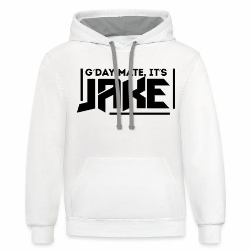G'Day Mate It's Jake Black Logo - Contrast Hoodie