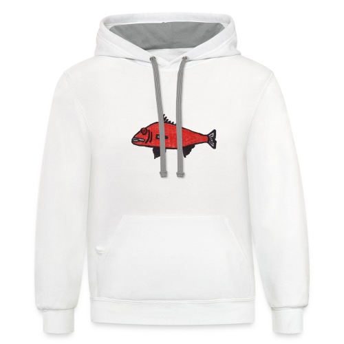 strawberry fish! - Unisex Contrast Hoodie