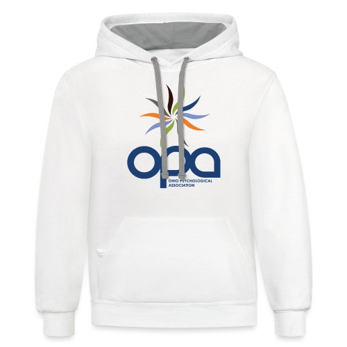 Hoodie with full color OPA logo - Unisex Contrast Hoodie