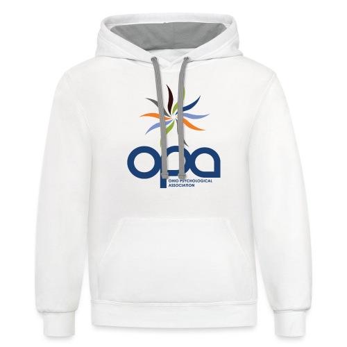 Hoodie with full color OPA logo - Unisex Contrast Hoodie